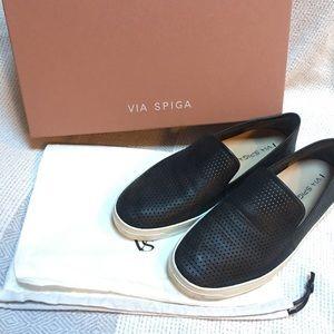Via Spiga Galea Perforated Leather Slip On